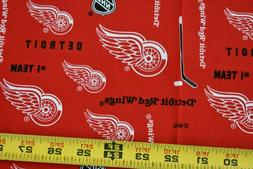 """13"""" Long, Detroit Red Wings NHL Quilt Cotton, Red & White, S"""