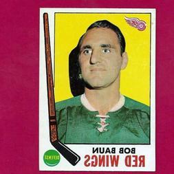 1969-70 TOPPS #57 BOB BAUN DETROIT RED WINGS  HOCKEY CARD NR