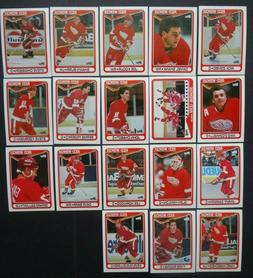 1990-91 Topps Detroit Red Wings Team Set of 18 Hockey Cards
