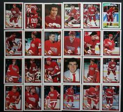 1991-92 Topps Detroit Red Wings Team Set of 24 Hockey Cards