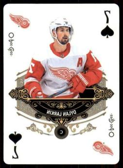 2020-21 UD O-Pee-Chee Playing Cards #7-SPADES Dylan Larkin -