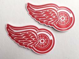 2x Detroit Red Wings Car Window Bumper Laptop Vinyl Die Cut