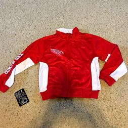 NHL Apparel DETROIT RED WINGS Tricot Track Jacket BOYS Size