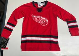 NHL Apparel Kids Unisex Detroit Red Wings Long Sleeve Red Je