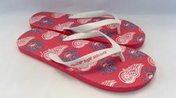 BRAND NEW NHL DETROIT RED WINGS FLIP FLOP SANDALS WITH AL OC