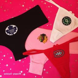 CHOICE of NHL TEAM Women's THONG or CHEEKY Boyshort Hipster