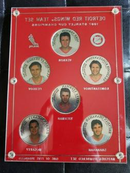 Detroit Red Wings 1997 Stanley Cup 5 Coin Set #d 37/500