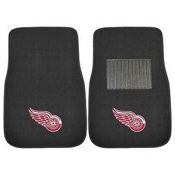 Detroit Red Wings 2 Piece Embroidered Car Auto Floor Mats