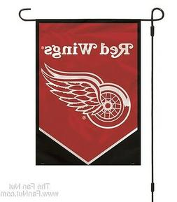 Detroit Red Wings 2-sided Garden Window Flag Banner NO POLE