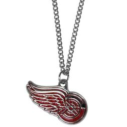 """Detroit Red Wings 22"""" Chain Necklace Metal Logo NHL Licensed"""