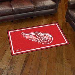 Detroit Red Wings 3' X 5' Decorative Ultra Plush Carpet Area