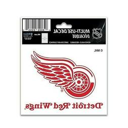 """DETROIT RED WINGS 3""""X4"""" MULTI-USE DECAL PERFECT FOR CAR WIND"""