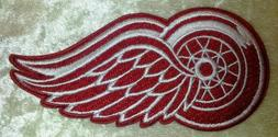 """Detroit Red Wings 4"""" Iron On Embroidered Patch ~USA Seller~"""