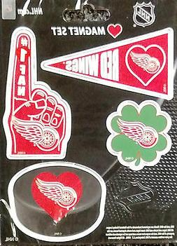 Detroit Red Wings 4-Pack Team Magnet Sheet Auto Home Heavy D