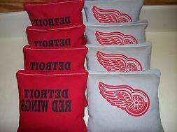 Detroit Red Wings 8 Custom Cornhole Bags