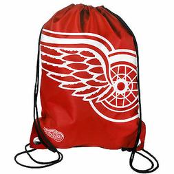 Detroit Red Wings Back Pack/Sack Drawstring Bag/Tote NHL bac