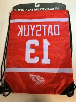 detroit red wings backpack sack drawstring bag