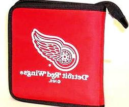 DETROIT RED WINGS CD/DVD DISC HOLDER STORAGE CASE BLUE RAY O