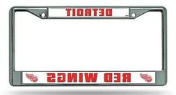 Detroit Red Wings Chrome Frame Metal License Plate Tag Cover