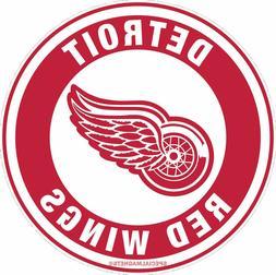 Detroit Red Wings Circle Logo REMOVABLE Flex Car Bumper Magn