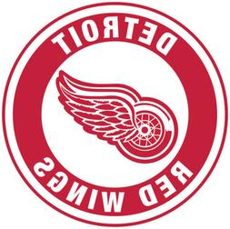 Detroit Red Wings Circle Logo Vinyl Decal / Sticker 5 Sizes!
