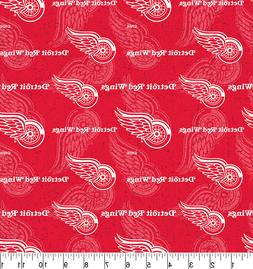 Detroit Red Wings Cotton Fabric Tone on Tone-NHL Cotton Fabr