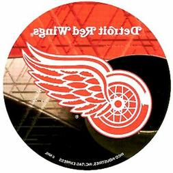 """Detroit Red Wings Decal 4"""" Round Vinyl Auto Home Window Bump"""