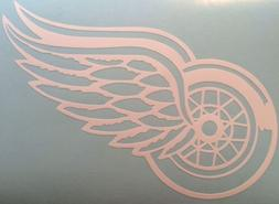 """Detroit Red Wings Decal 5""""x7"""" White Vinyl ** FREE SHIPPING**"""