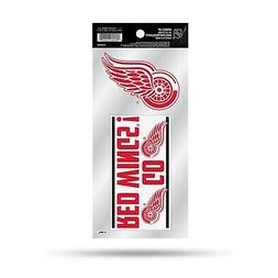 Detroit Red Wings Double UP Decal Sheet Slogan Sticker Auto