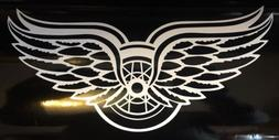 detroit red wings double winged decal 4