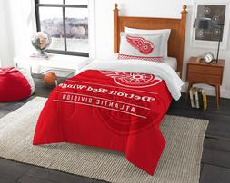 Detroit Red Wings Twin Comforter & Sham Set  OFFICIAL NHL