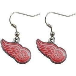 detroit red wings earrins nhl dangle series