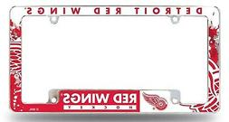 Detroit Red Wings EZ View All Over Chrome Frame Metal Licens