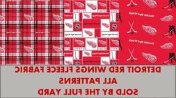 Detroit Red Wings Fleece Fabric-NHL Fleece Blanket Fabric So