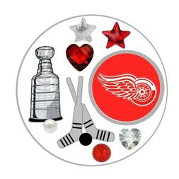 Detroit Red Wings Floating Locket Charms and Birthstones