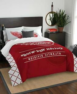 Detroit Red Wings Full Queen NHL Hockey Comforter Pillow Sha