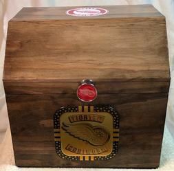 detroit red wings hand made chest red