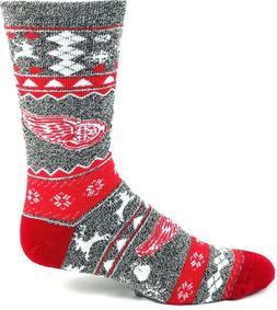 Detroit Red Wings NHL Hockey Adult Ugly Christmas Socks Crew