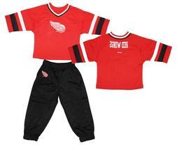 Reebok Detroit Red Wings Kids 3/4 Sleeve Hockey Jersey and P