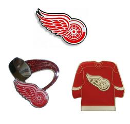 """Detroit Red Wings Lapel Pins About 1"""" Tall NHL Hockey Licens"""