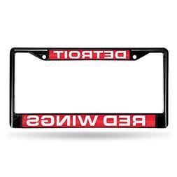 Detroit Red Wings Laser Black License Plate Frame