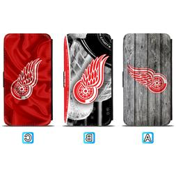 Detroit Red Wings Leather Flip Case For iPhone X Xs Max Xr 7