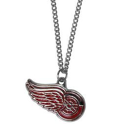 """detroit red wings licensed nhl hockey charm necklace 22"""" cha"""