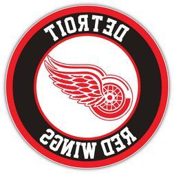 Detroit Red Wings Logo NHL Sport Car Bumper Sticker Decal -