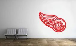 Detroit Red Wings Logo Wall Decal NHL Hockey Decor Sport Vin