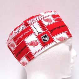 Detroit Red Wings Mens Scrub Hat, Skull Cap, Surgical Cap, C