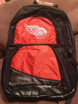 Detroit Red Wings NEW Backpack . NHL Hockey School Youth NWT