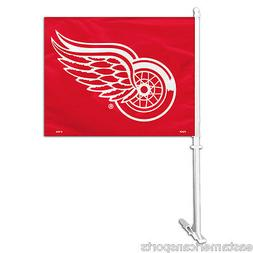 Detroit Red Wings NHL Car Flag Window Pole Banner Auto Truck