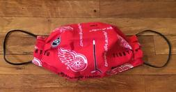 DETROIT RED WINGS NHL COTTON FABRIC FACE MASK Hockey Washabl