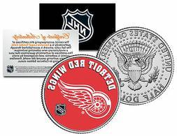 DETROIT RED WINGS NHL Hockey JFK Kennedy Half Dollar U.S. Co
